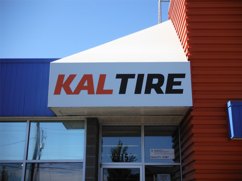 Kal Tire, Courtenay B.C., Awnings