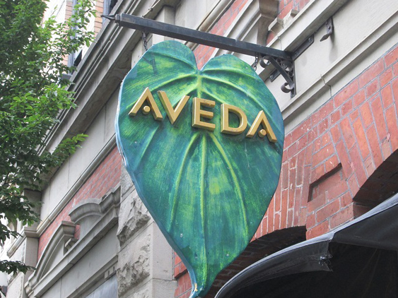 Aveda, Victoria B.C., Projecting Signs